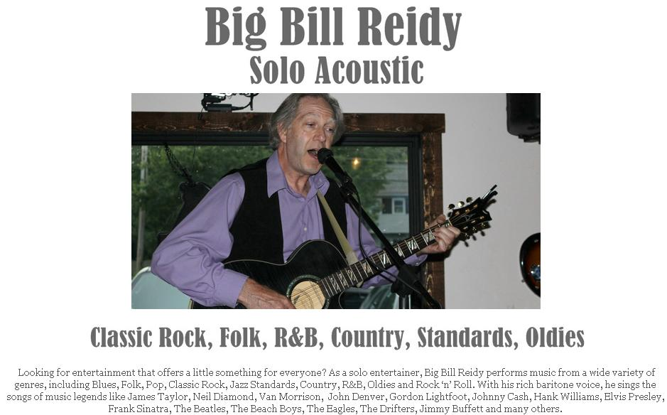 Big Bill Website Page